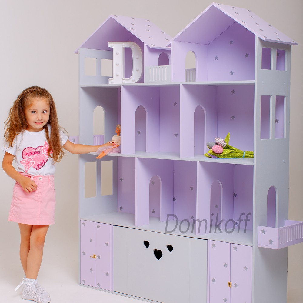 Большой цветной домик с ящиками