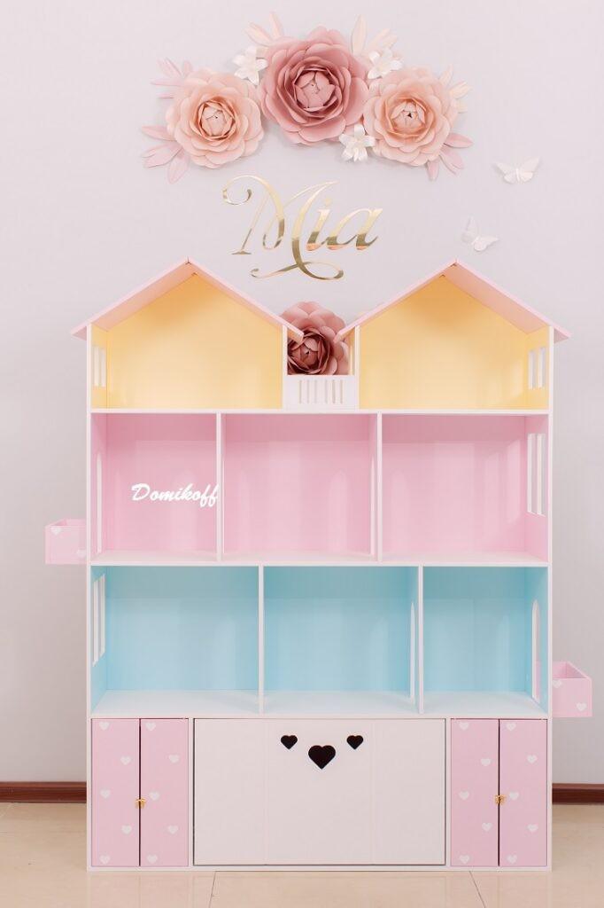 Цветной большой домик для кукол