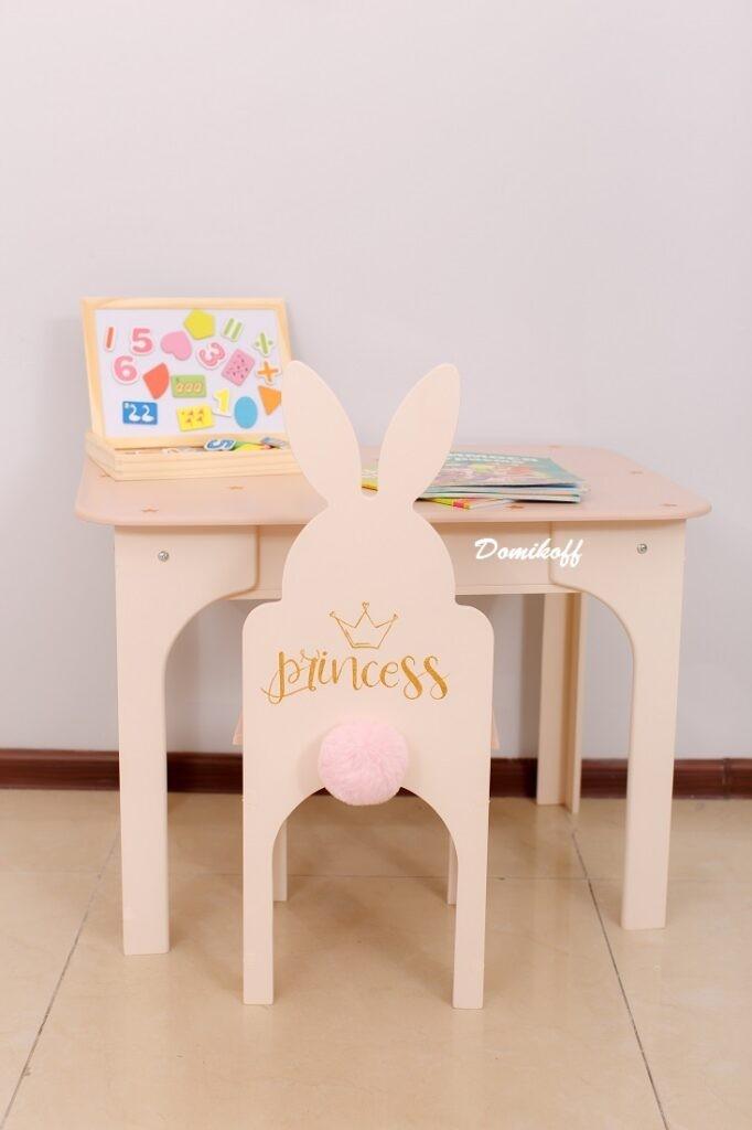 Детский стол и стул Зайчик