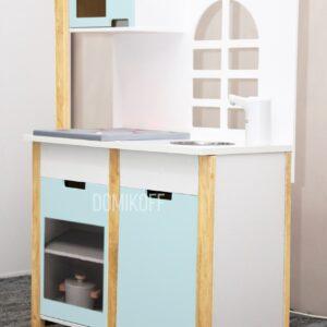Детская интерактивная кухня в голубом цвете